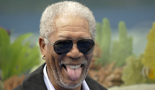 "Actor Morgan Freeman arrives at the movie ""Dolphin Tale"" world premiere in Los Angeles"